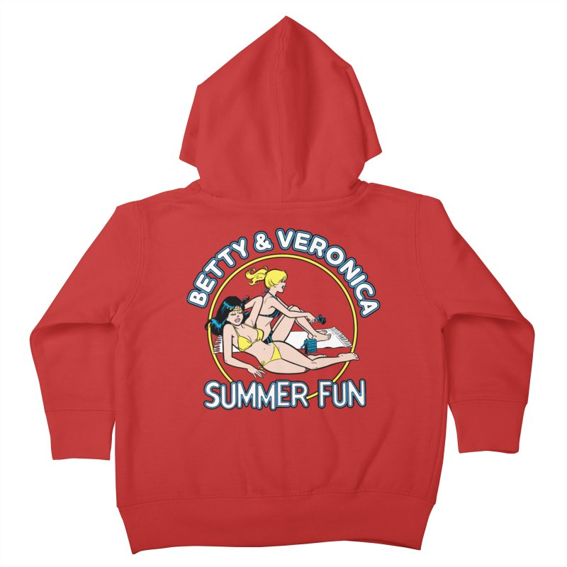 Betty And Veronica Summer Fun Kids Toddler Zip-Up Hoody by Archie Comics