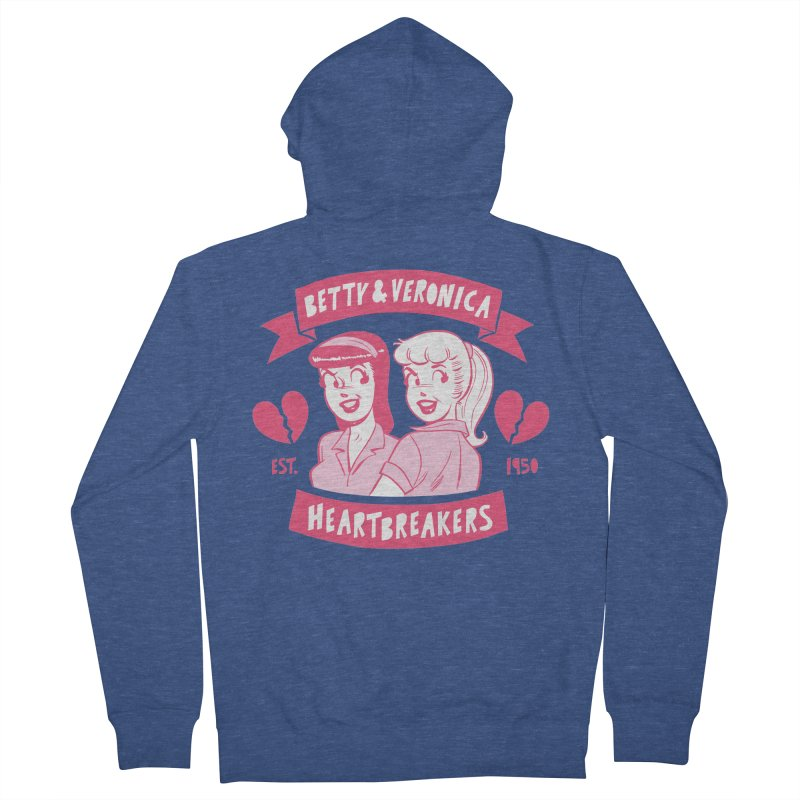Heartbreakers Men's French Terry Zip-Up Hoody by archiecomics's Artist Shop