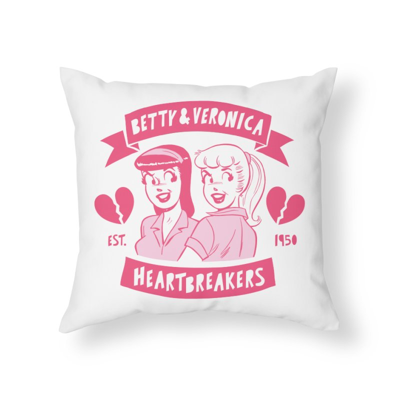 Heartbreakers Home Throw Pillow by archiecomics's Artist Shop