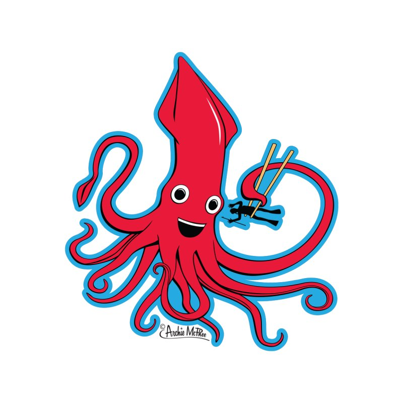 Hungry Squid None  by Archie McPhee Shirt Shop
