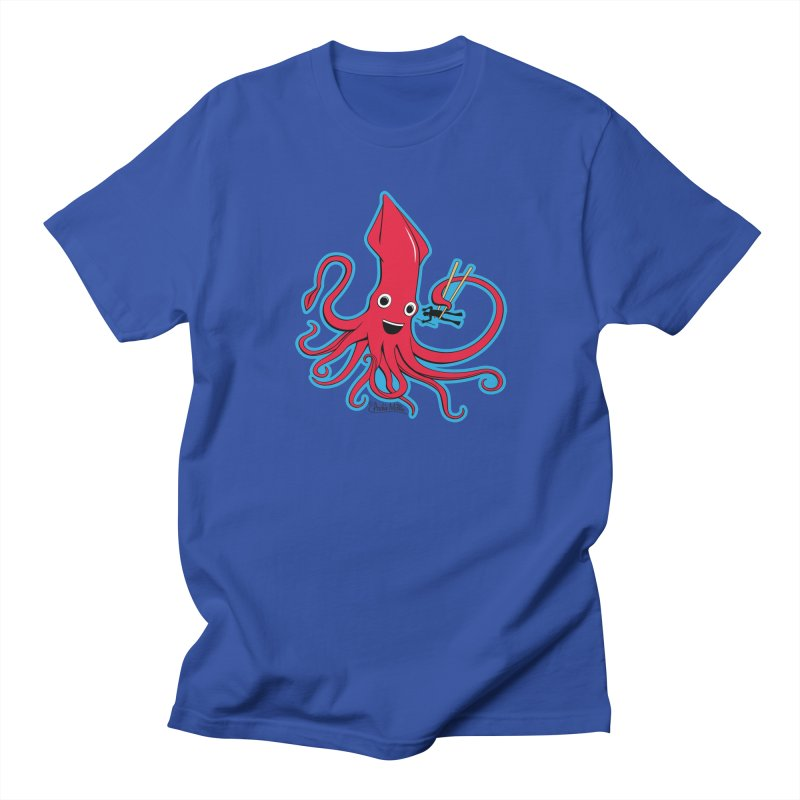 Hungry Squid Men's T-Shirt by Archie McPhee Shirt Shop