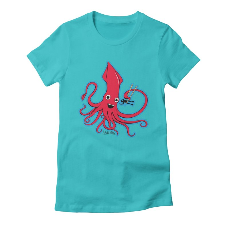 Hungry Squid Women's Fitted T-Shirt by Archie McPhee Shirt Shop