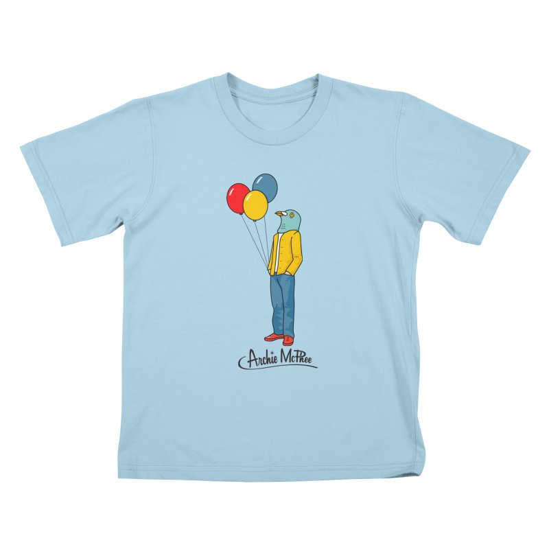Strange Friends - Pigeon Man Kids T-Shirt by Archie McPhee Shirt Shop