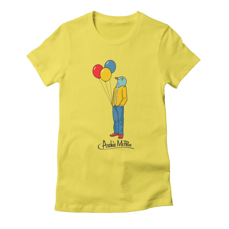 Strange Friends - Pigeon Man Women's Fitted T-Shirt by Archie McPhee Shirt Shop