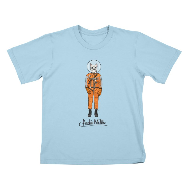 Cat Astronaut Kids T-shirt by Archie McPhee Shirt Shop