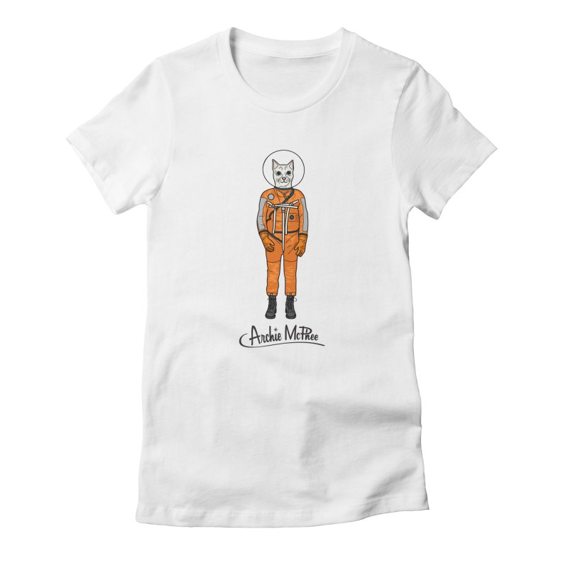 Cat Astronaut Women's Fitted T-Shirt by Archie McPhee Shirt Shop