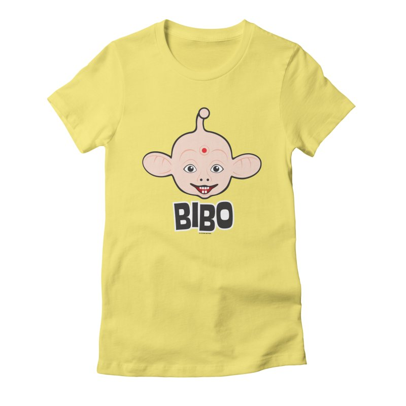 Bibo Women's Fitted T-Shirt by Archie McPhee Shirt Shop