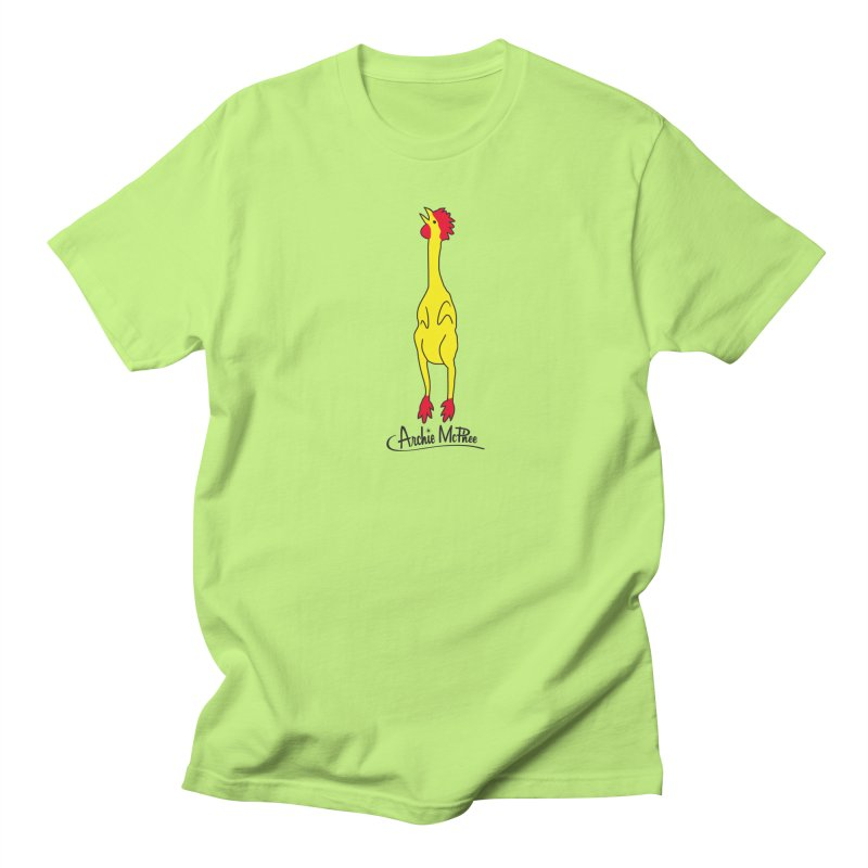 Rubber Chicken Men's T-shirt by Archie McPhee Shirt Shop