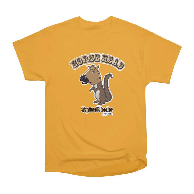 Horse Head Squirrel Feeder Men's Classic T-Shirt by Archie McPhee Shirt Shop