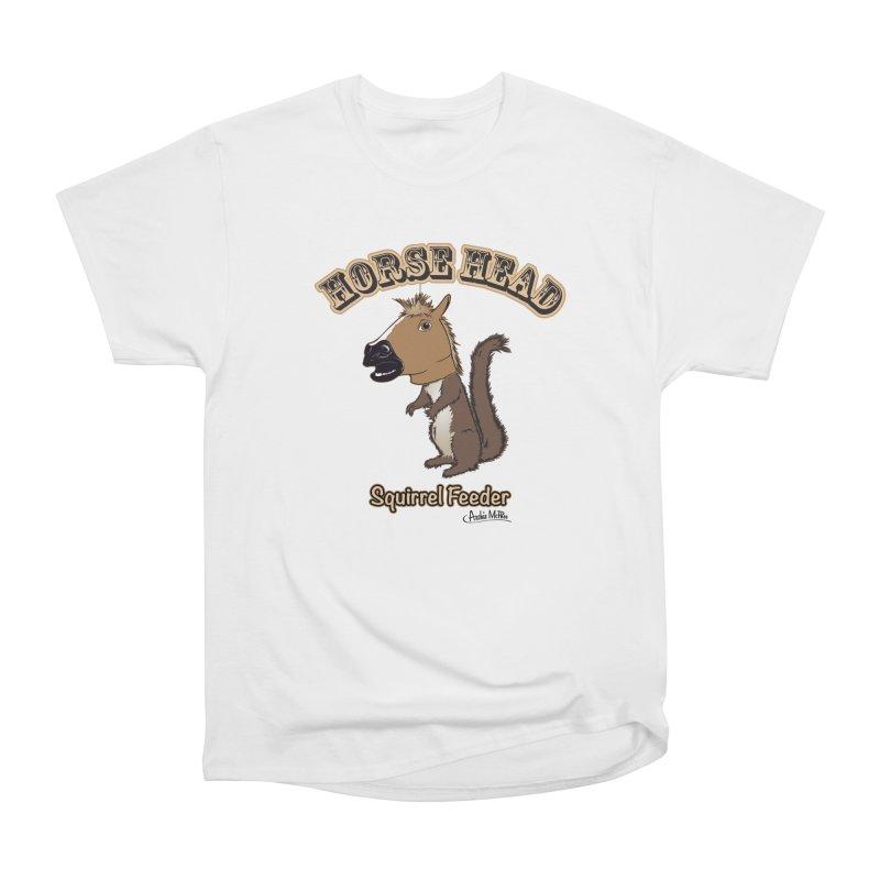Horse Head Squirrel Feeder Women's Classic Unisex T-Shirt by Archie McPhee Shirt Shop