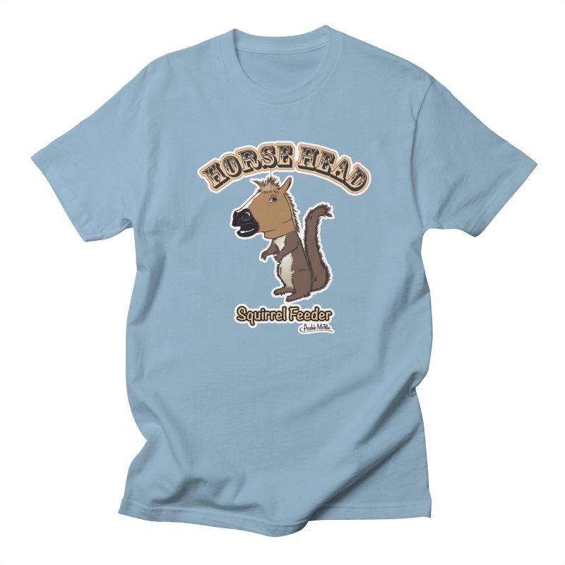 Horse Head Squirrel Feeder Men's T-shirt by Archie McPhee Shirt Shop