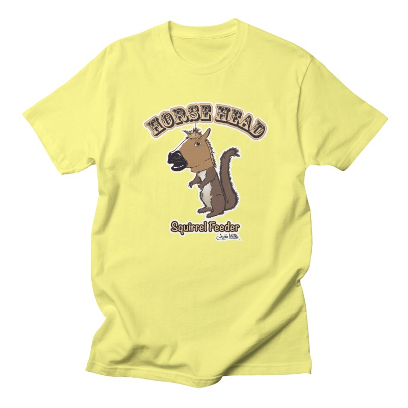 Horse Head Squirrel Feeder Women's Unisex T-Shirt by Archie McPhee Shirt Shop