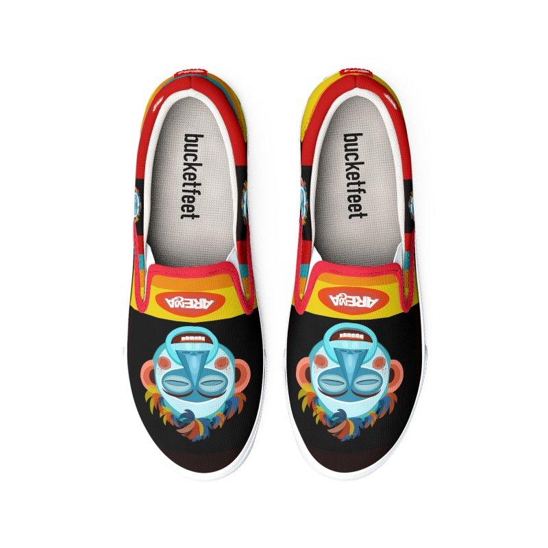 MoonKey - The Monkey (Meditation) Men's Shoes by aremaaregafashion's Artist Shop