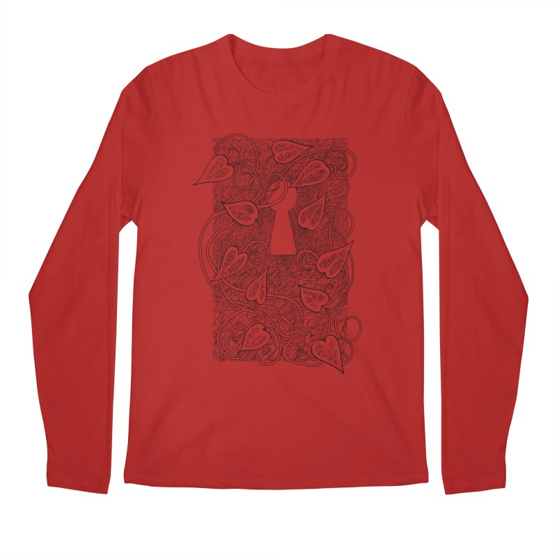 Secret Garden Men's Longsleeve T-Shirt by ariesnamarie's Artist Shop