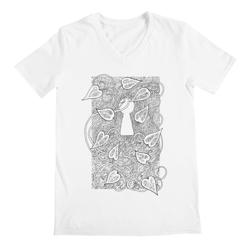 Secret Garden Men's V-Neck by ariesnamarie's Artist Shop