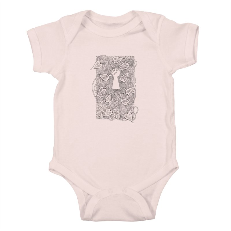 Secret Garden Kids Baby Bodysuit by ariesnamarie's Artist Shop