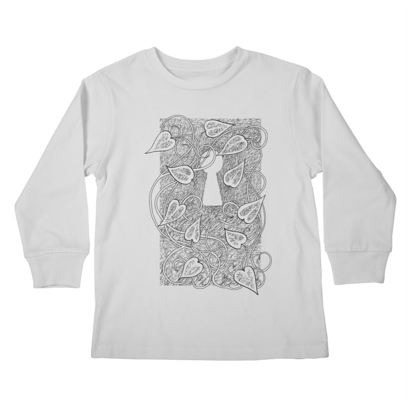 Secret Garden Kids Longsleeve T-Shirt by ariesnamarie's Artist Shop