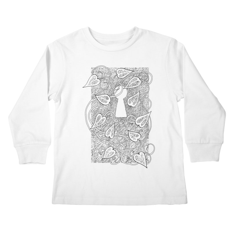 Secret Garden Kids Longsleeve T-Shirt by ariesnamarie's Artist Shop