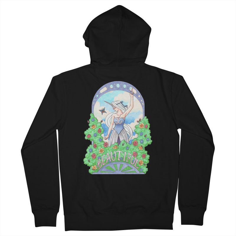 You Are Beautiful Women's Zip-Up Hoody by ariesnamarie's Artist Shop