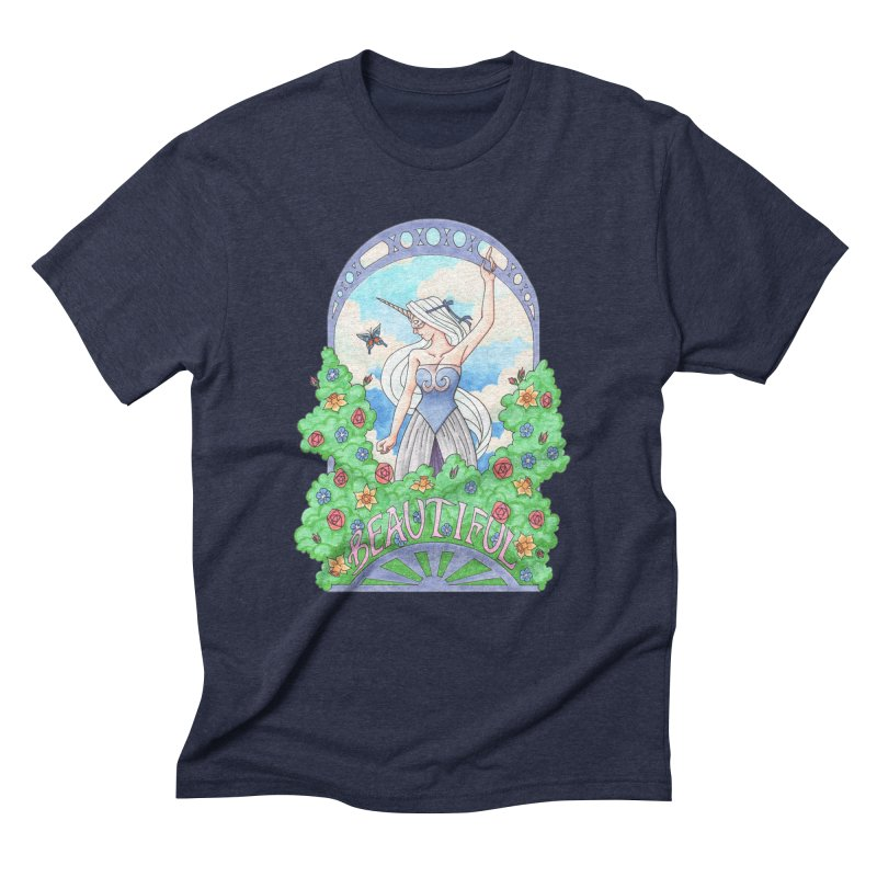 You Are Beautiful Men's Triblend T-Shirt by ariesnamarie's Artist Shop