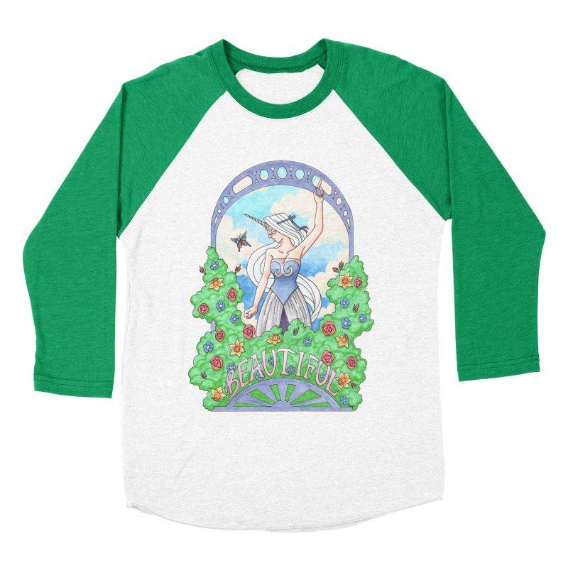 You Are Beautiful Women's Baseball Triblend T-Shirt by ariesnamarie's Artist Shop