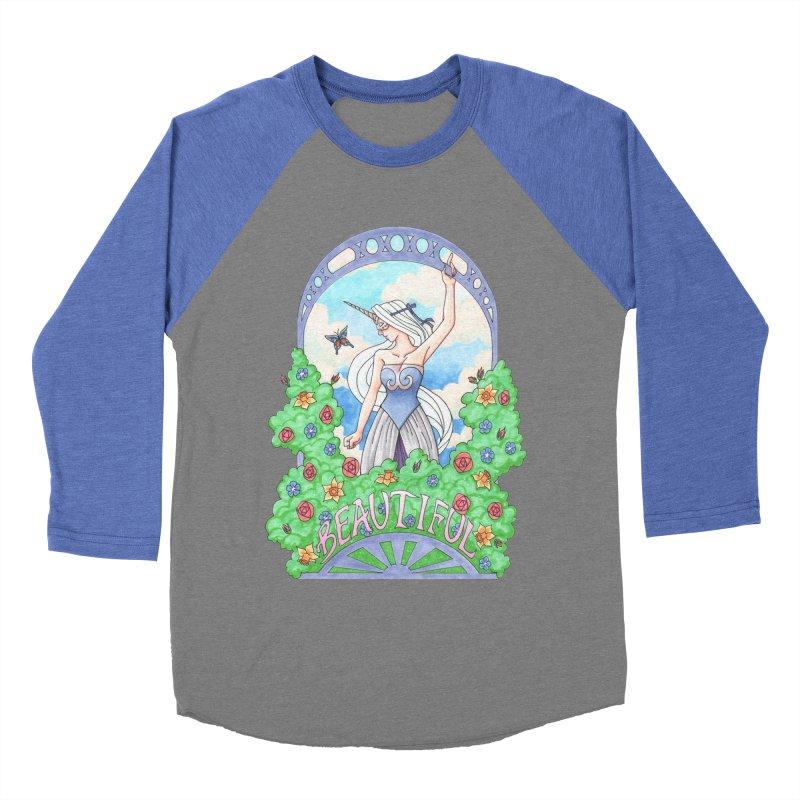 You Are Beautiful Men's Baseball Triblend T-Shirt by ariesnamarie's Artist Shop