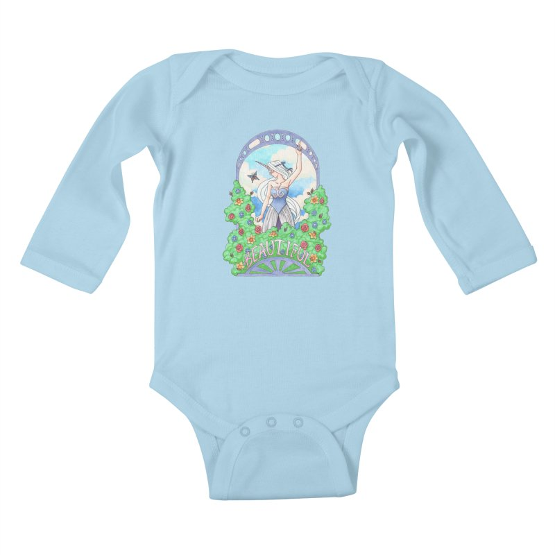 You Are Beautiful Kids Baby Longsleeve Bodysuit by ariesnamarie's Artist Shop