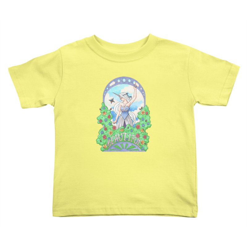 You Are Beautiful Kids Toddler T-Shirt by ariesnamarie's Artist Shop