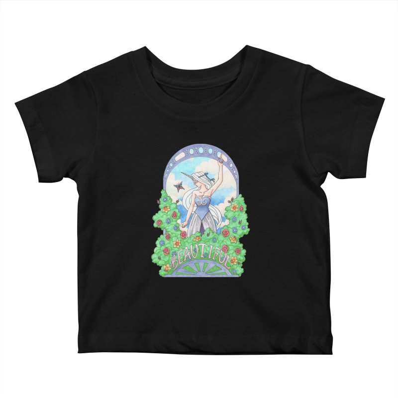 You Are Beautiful Kids Baby T-Shirt by ariesnamarie's Artist Shop
