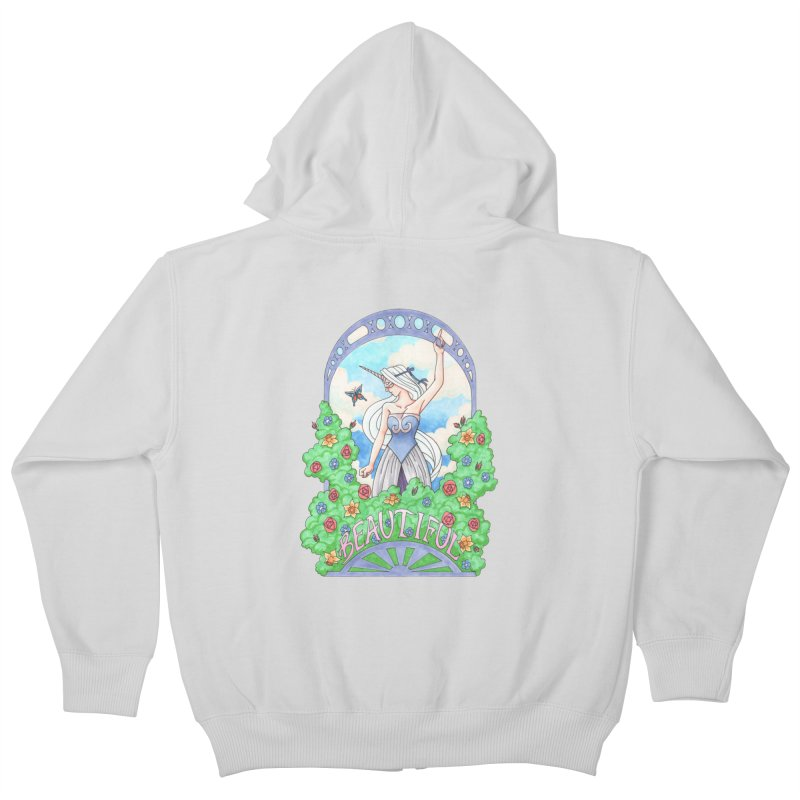 You Are Beautiful Kids Zip-Up Hoody by ariesnamarie's Artist Shop