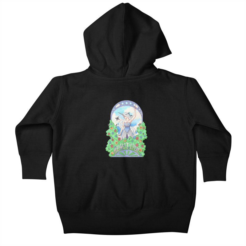 You Are Beautiful Kids Baby Zip-Up Hoody by ariesnamarie's Artist Shop