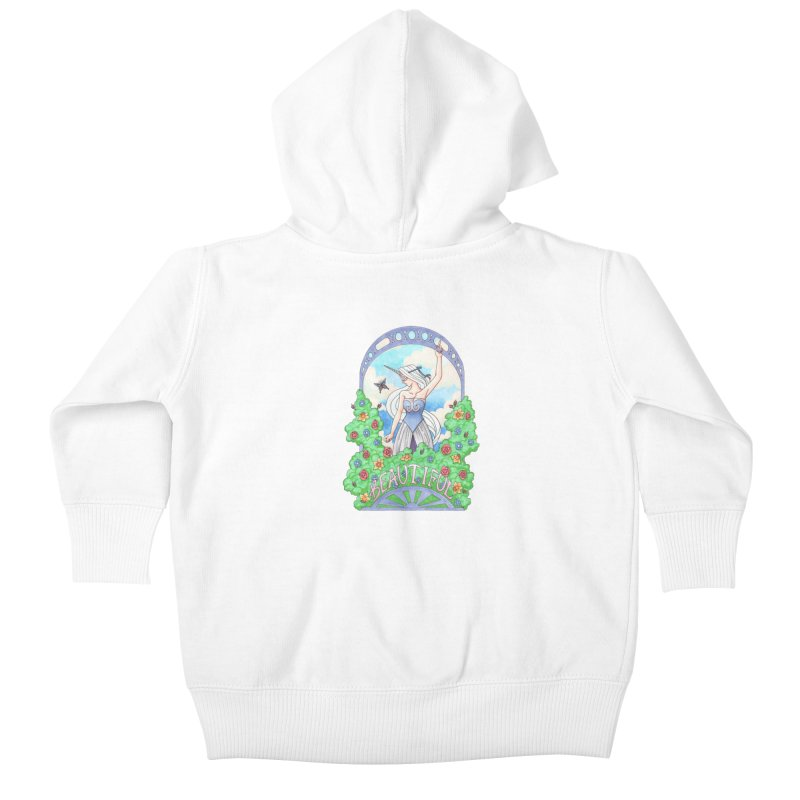 You Are Beautiful Kids Baby Zip-Up Hoody by ariesnamarie's Artist Shop