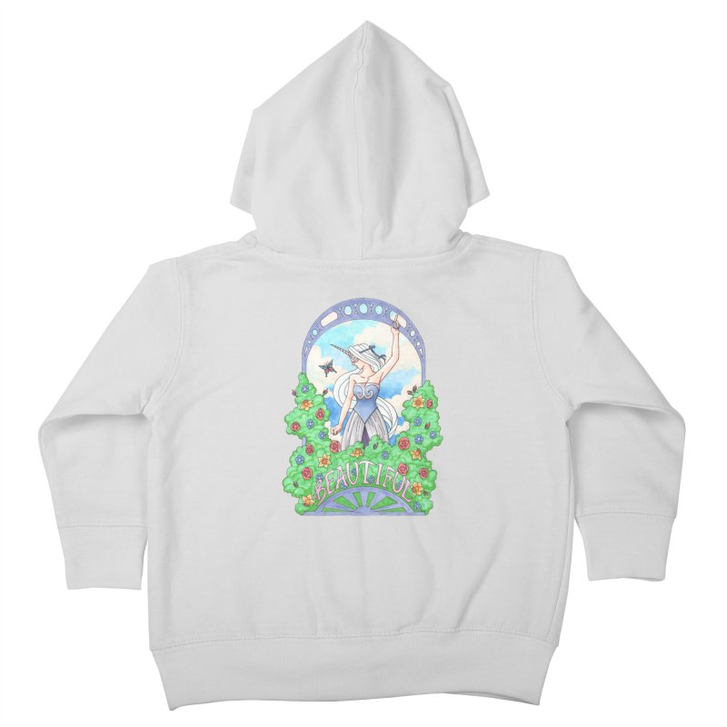 You Are Beautiful Kids Toddler Zip-Up Hoody by ariesnamarie's Artist Shop