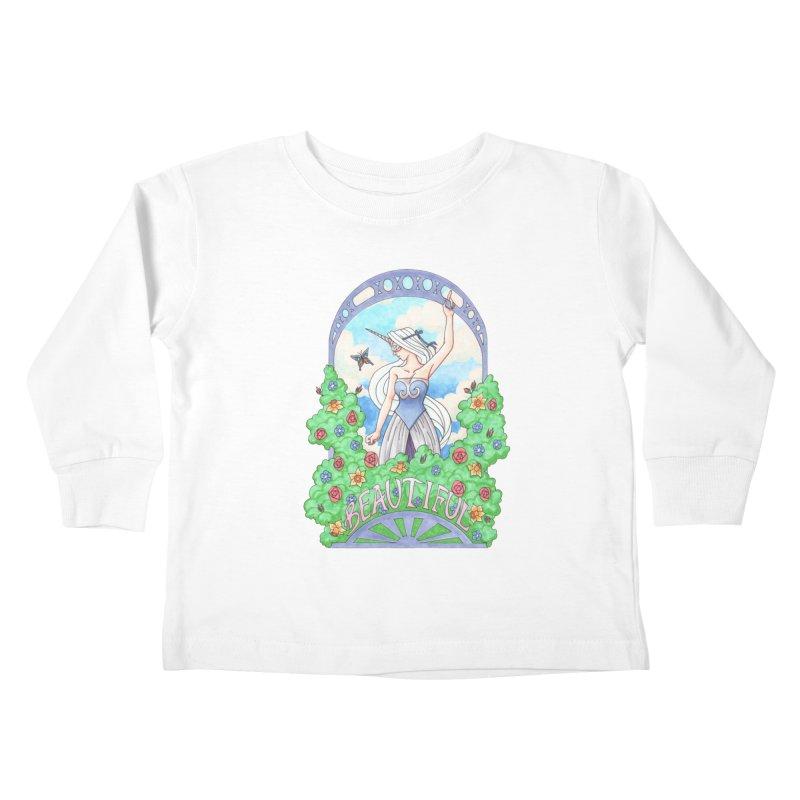 You Are Beautiful Kids Toddler Longsleeve T-Shirt by ariesnamarie's Artist Shop