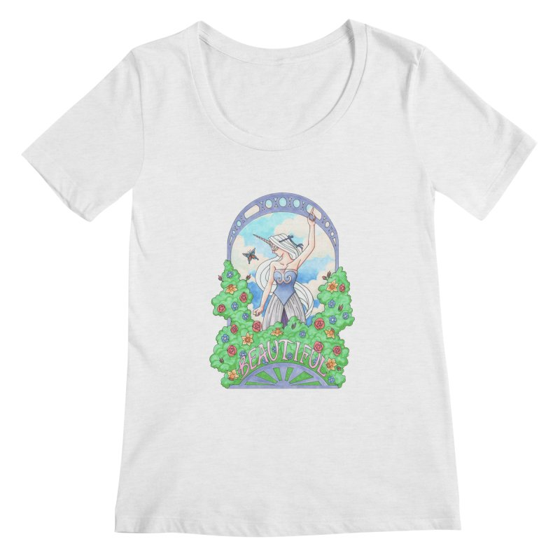 You Are Beautiful Women's Scoopneck by ariesnamarie's Artist Shop