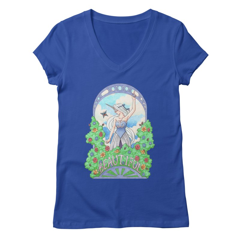 You Are Beautiful Women's V-Neck by ariesnamarie's Artist Shop