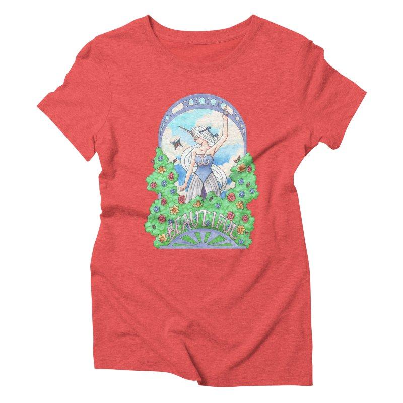 You Are Beautiful Women's Triblend T-shirt by ariesnamarie's Artist Shop