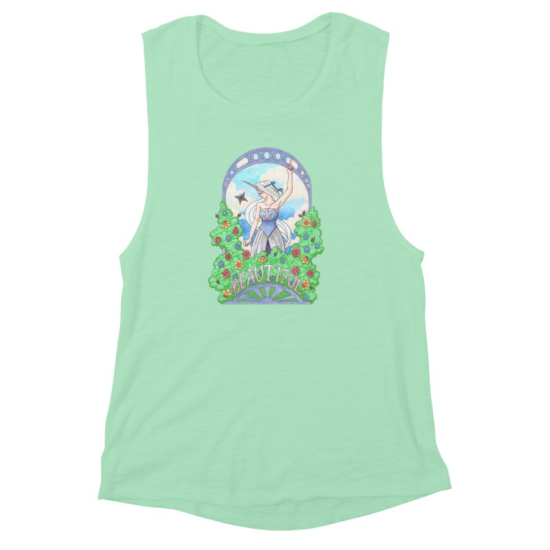 You Are Beautiful Women's Muscle Tank by ariesnamarie's Artist Shop