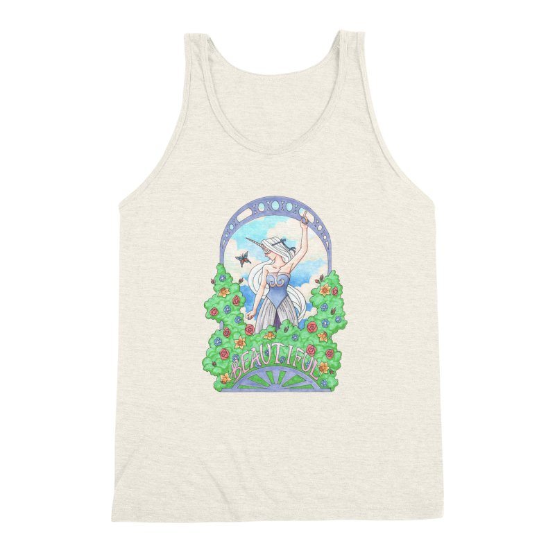 You Are Beautiful Men's Triblend Tank by ariesnamarie's Artist Shop