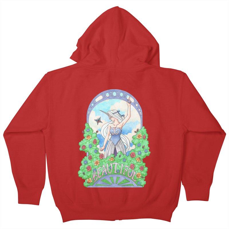 You Are Beautiful Kids Zip-Up Hoody by ariesnamarie's Artist Shop