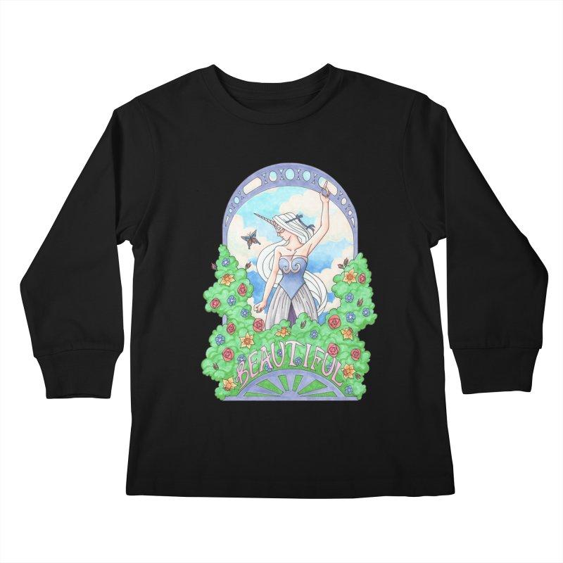 You Are Beautiful Kids Longsleeve T-Shirt by ariesnamarie's Artist Shop