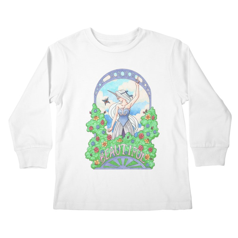 You Are Beautiful Kids Longsleeve T-Shirt by ariesnamarie's Artist Shop