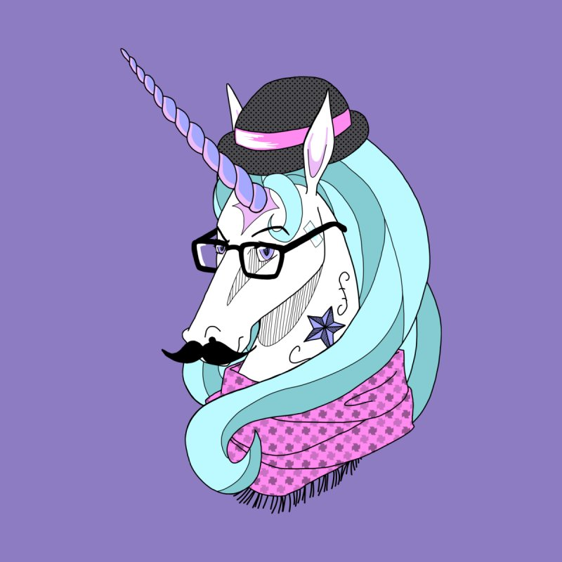 Hipster Unicorn None  by ariesnamarie's Artist Shop