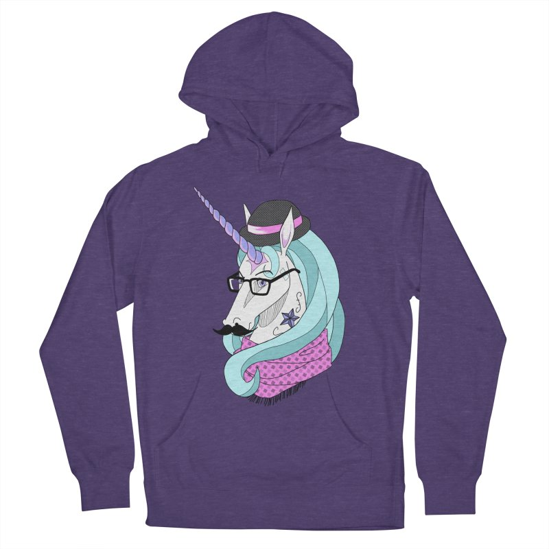 Hipster Unicorn Women's Pullover Hoody by ariesnamarie's Artist Shop