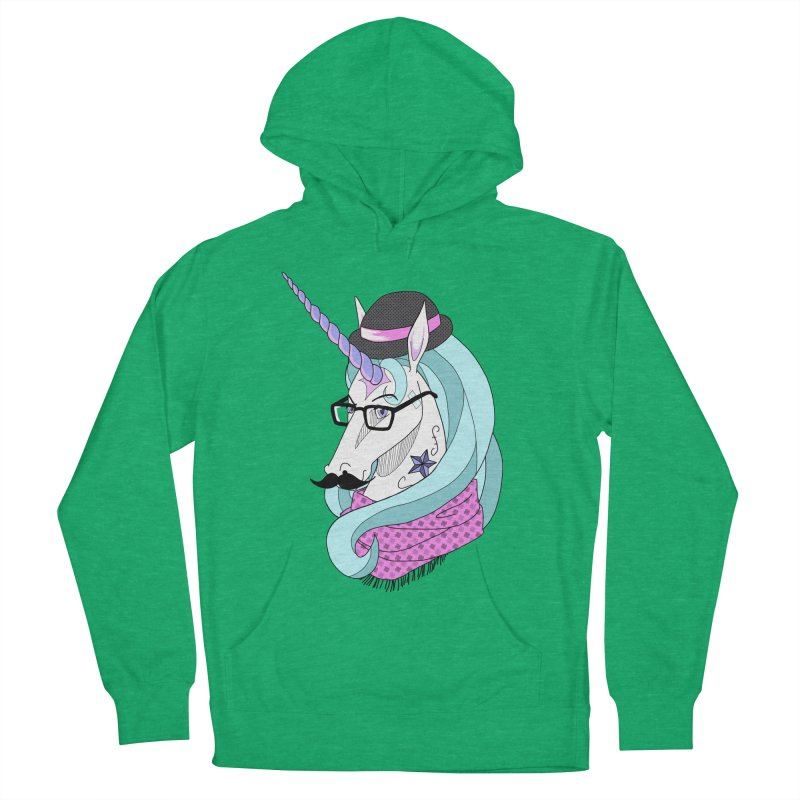 Hipster Unicorn Men's Pullover Hoody by ariesnamarie's Artist Shop