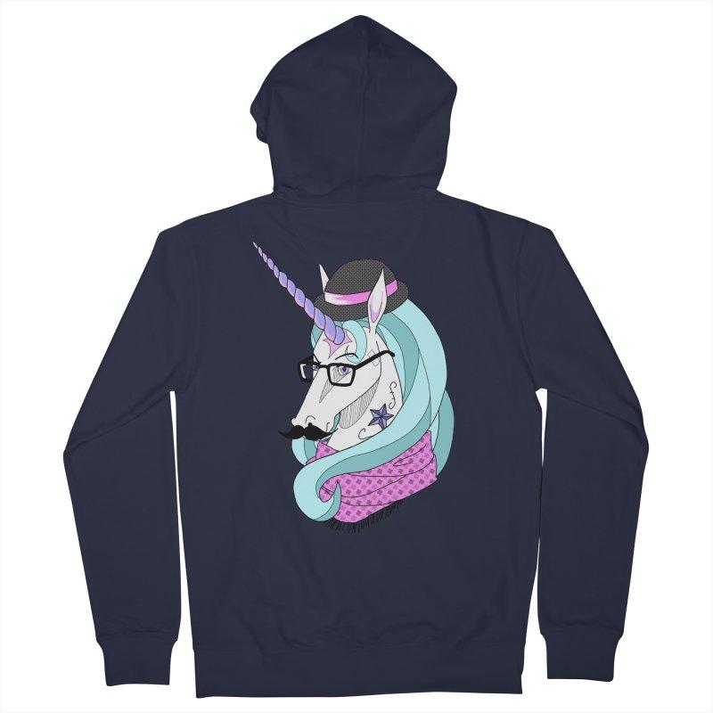 Hipster Unicorn Women's Zip-Up Hoody by ariesnamarie's Artist Shop