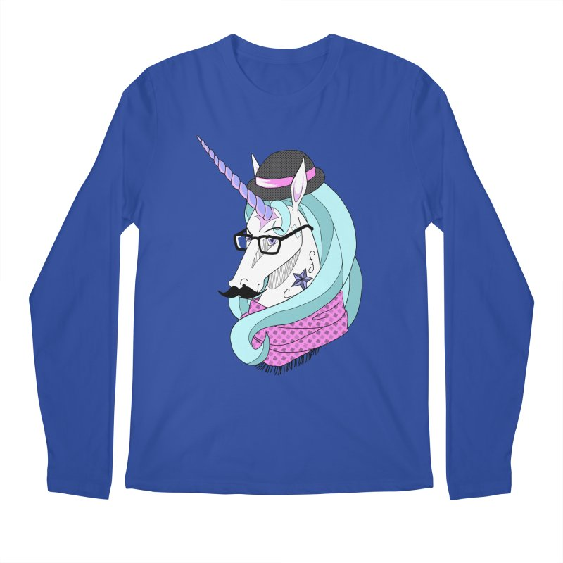 Hipster Unicorn Men's Longsleeve T-Shirt by ariesnamarie's Artist Shop