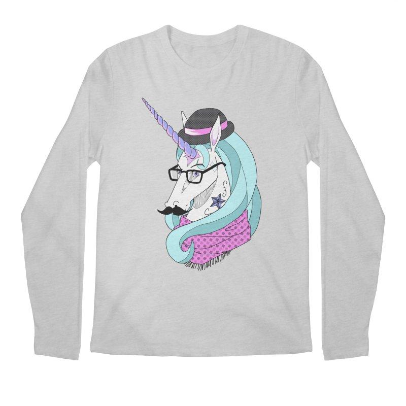 Hipster Unicorn Men's Longsleeve T-Shirt by ariesnamarie's Artist Shop