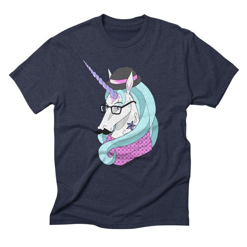 Hipster Unicorn Men's Triblend T-Shirt by ariesnamarie's Artist Shop