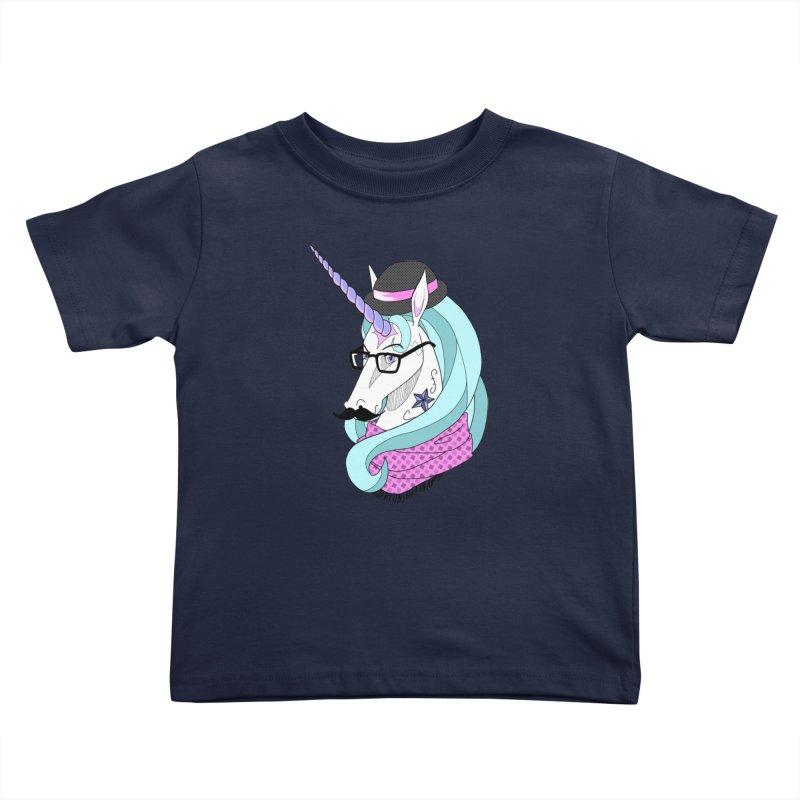 Hipster Unicorn Kids Toddler T-Shirt by ariesnamarie's Artist Shop